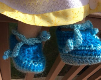 Waldorf doll clothes, shoes, booties, crocheted
