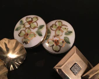 Bundle of three pr clip earrings porcelain monet more