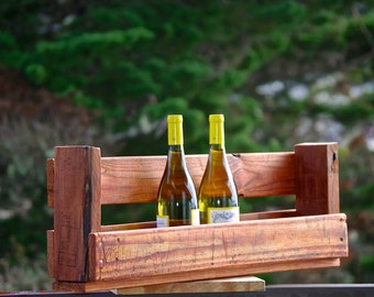 "28"" Reclaimed pallet Wine rack Caddy rustic kitchen farmhouse Furniture boho primitive 7 6 bottle wine countryside shevling shelf shelves"