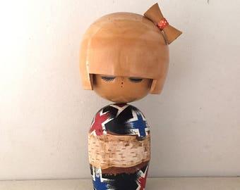 """Vintage Sosaku Big Kokeshi """" kimono """""""