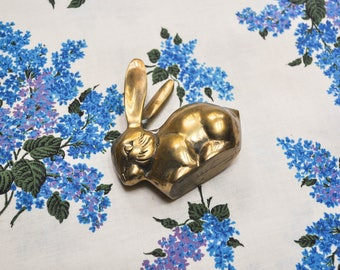 Vintage Solid Brass Bunny or Rabbit Figurine