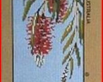 Bottlebrush Floral Needlepoint Canvas New