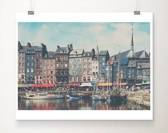 Honfleur photograph boat photograph france photograph travel photography Normandy photograph french decor france print boat print