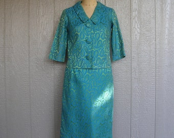 Vintage 60s FIRST LADY CHIC Damask Suit