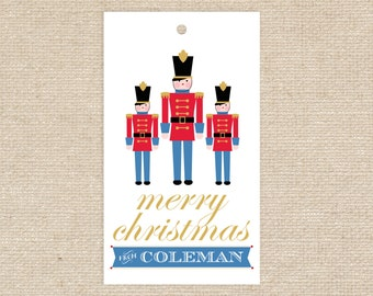 Digital Toy Soldier Gift Tags