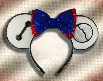 Healthcare Robot Mouse Ear Headband with Bow