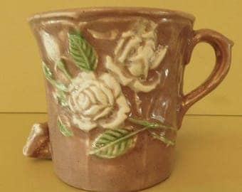 Wake and Bake Ceramic Pipe, Handmade ceramic tobacco pipe coffee mug