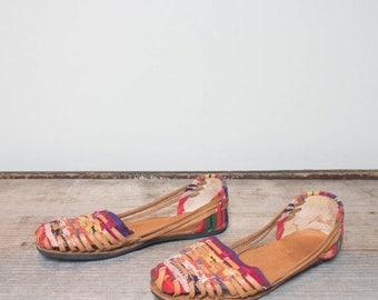 SALE 39   8-8.5   Colorful Huarache Style Sandals
