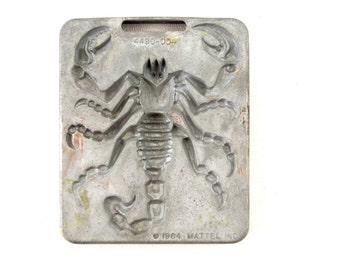 Vintage Giant Creepy Crawlers Scorpion Mold for Mattel Thingmaker #4490-054 (c.1964) I - Collectible Toy, Oddity, Unique Curio Decor