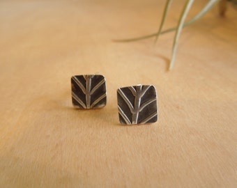Leaf Nature Post Earring Sterling Silver