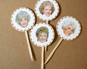 Golden Girls DIY Printable Cupcake Toppers or Gift Tags- Dorothy- Blanche- Rose- Sophia- Golden Girls Party- Birthday Party- Reunion