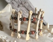 Real Coyote Knuckle Cuff Bracelet