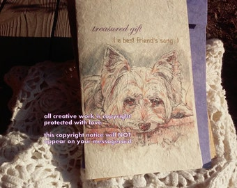 treasured gift / Yorkie /Yorkshire Terrier/Love Yorkie/personalize /sentimental/storybook/unique empathy condolence /pet sympathy/pet card