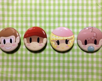 Donkey Kong Country Button Set
