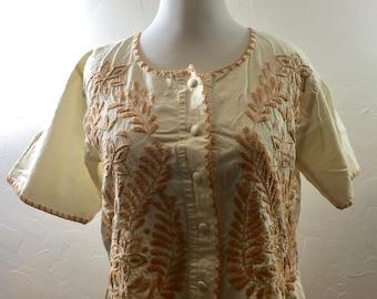 Vintage Blouse, Handmade Vintage, Embroidered Blouse, Ethnic Clothing, Ethnic Blouse, Hippie Blouse, Hippie Vintage, Cotton Shirt, Boho