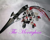 Morrighan Embellished Athame - Several Blade Styles/Sizes - - Garnet, Moonstone, Black Onyx