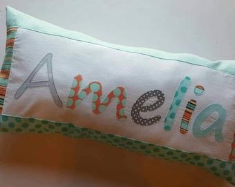 Personalized Pillow, Appliqued Name, Initials, or Monogram, Custom Name
