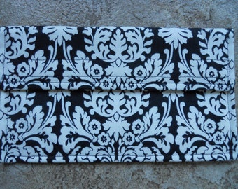 Majestic Black and White Coupon Holder / Organizer / Wallet
