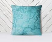 Nature Throw Pillow Sham | Tree branches | Underwater Art pillow cover |14x14, 14x20, 16x16, 18x18, 20x20, 26x26 | Zen Decor |Teal Pillow