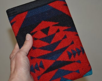 simple KINDLE sleeve Kindle Paperwhite sleeve Kindle Touch Sleeve case cover made using Wool electronics cases RED Native American