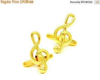 ON SALE Music Note Cufflinks - Groomsmen Gift - Men's Jewelry - Gift Box Included