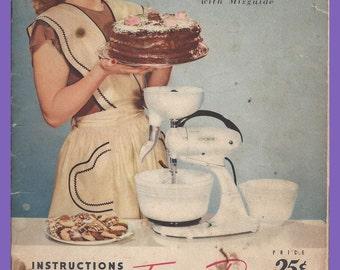 FOOD MIXER Recipes Cookbook 1948 Hamilton Beach  Vintage