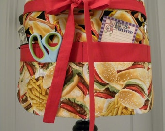 Teacher Apron-Crafter Vendor Utility Apron-Fast Food Feast