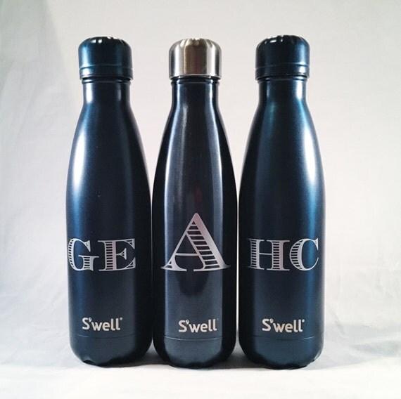 New Gem Collections Monogram S'well Bottles - Sorority, Bridesmaid, Birthday, Christmas, Workout, Yoga, Greek Swell Bottle