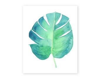 Monstera Leaf, 8x10 Fine Art Print