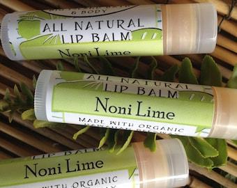 THREE Hawaiian Noni Lip Balm Organic Beeswax-Made in Hawaii