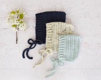 CROCHET PATTERN - Pixie Bonnet - PDF, Instant Download, baby bonnet, crochet bonnet, baby gift, toddler hat, newborn bonnet, photo prop