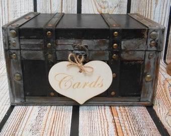 Rustic Wedding Card Box / Wedding Card Trunk / Wooden Card Box / Rustic Wedding Decor / Wedding Card Holder