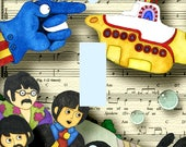 Reserved Listing -  Yellow Submarine Lightswitch Light Switch Plate Cover Kids Room Decor