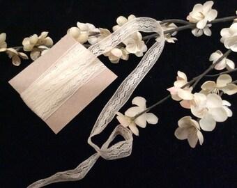 Vintage Fine Cotton Lace, Vintage Bridal Lace, Vintage Wedding Lace, Vintage French Lace