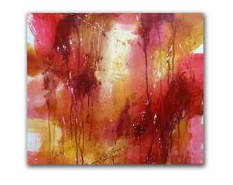 "16x20 Original Acrylic Abstract Painting titled ""Forgiven"", Contemporary Christian Art"