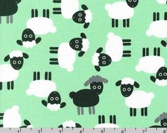Urban Zoologie - Mint Sheep by Ann Kelle from Robert Kaufman