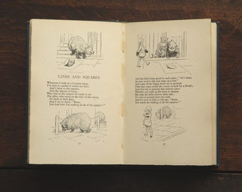 Vintage book by A. A. Milne illustrated by E. H. Shepard, When We Were Very Young,