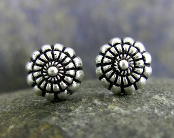 Oya silver earrings