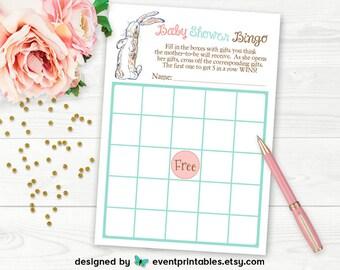 Velveteen Rabbit Baby Shower Bingo Card, Printable Baby Shower Game, Digital File INSTANT DOWNLOAD by Event Printables