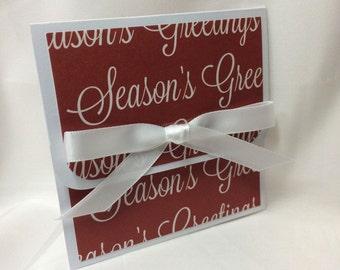 Seasons Greetings Holiday Gift Card Holder
