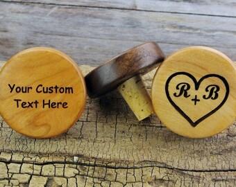 ONE CUSTOM ENGRAVED Bottle Stopper - (Choose Wood Type) - Wedding Favor - Wedding Gift - Wine Bottle Stopper
