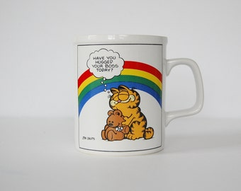 Garfield Mug, Bosses Day Gift Coffee Mug, Have You Hugged Your Boss Today, Boss Gift