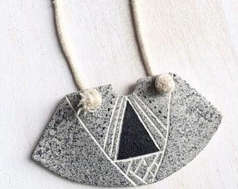 Trailways. Polymer Clay Necklace.