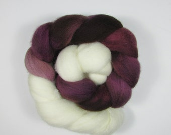 Purple Persian Buttercups Merino Roving 3 Ounces