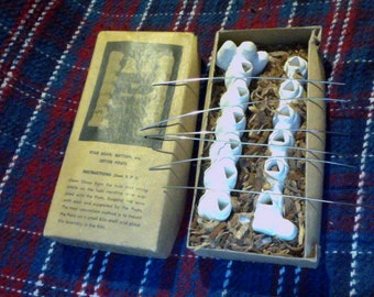 Vintage Star Bead, Button, etc, Setter Posts Rack with original box