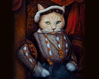 Custom 8x10 Royal Pet Portrait