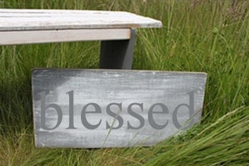 Distressed Aged Pine Wood Wall Art BLESSED Sign