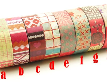 romantisch - Japanese Washi Masking Tape Set - 8 rolls - 11 Yard (No discount)