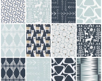 Blue Sprue/Honeydew Collection. Blue Drapery Panels. Navy Curtains. Pair of Two. Every Size. Aztec Custom Window Treatments. Geometric.
