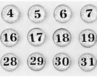 Lace  Magnet | Calendar Magnets | Number Magnets | Daily Calendar Numbers | Perpetual Calendar | Command Center Decor | White Board Magnets